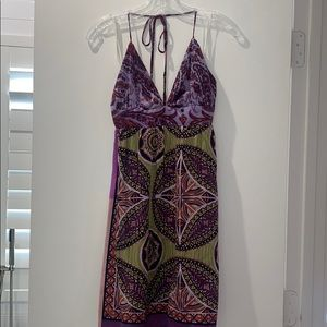Alice and Trixie Silk Pattern Halter Dress